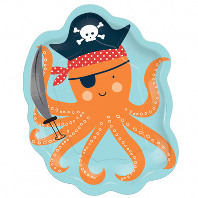 Ahoy Pirate Octopus Plate