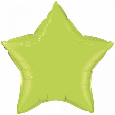 Qualatex Lime Green Foil Star