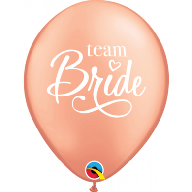 Team Bride Rose Gold Balloons