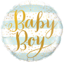 Baby Boy Stripe Foil Balloon 24