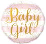 Baby Girl Stripe Foil Balloon 24