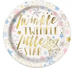 Twinkle Star 8pk Paper Plates