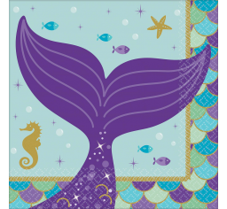 Mermaid Beverage Napkins 16pk