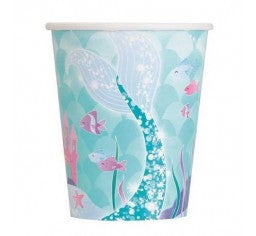 Unique Mermaid Paper Cups 8pk