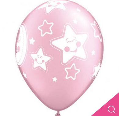 Baby Moon and Star Pearl Pink Latex 5pk