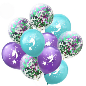 Mermaid Balloon Kit 10pc