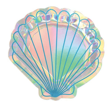 Mermaid Iridescent Shell Pk 8