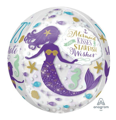 Mermaid Wishes Round Balloon 16''