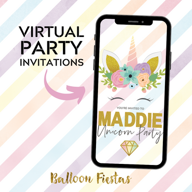 Unicorn Virtual Party Invitation