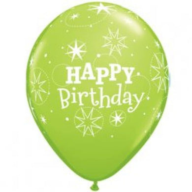 Happy Birthday Green Balloon Pk 5