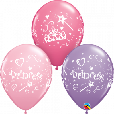 Princess Latex Balloon 28cm
