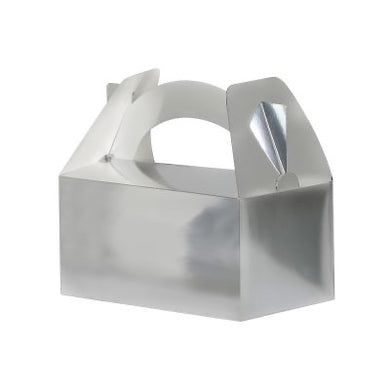 Metallic Silver Favour Box 5pk