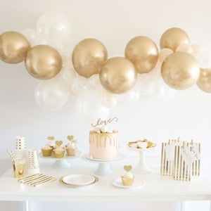 Illume Balloon 1.8m DIY Garland Kit Gold & White Assortment