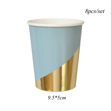 Blue and Gold Cups 8pk
