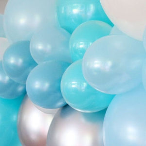 Illume Balloon 1.8m DIY Garland Kit Blue & Silver Assortment
