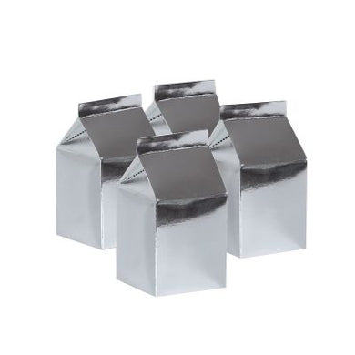 Metallic Silver Milk Box 10pk