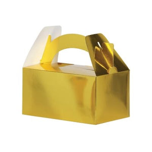 Metallic Gold Favour Box 5pk