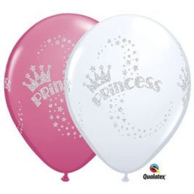 Princess Glitter Latex Balloon 28cm