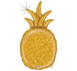 Gold Glitter Pineapple Foil Balloon