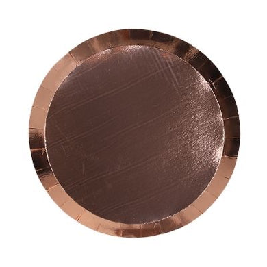 Rose Gold Paper Plate 18cm 10pk