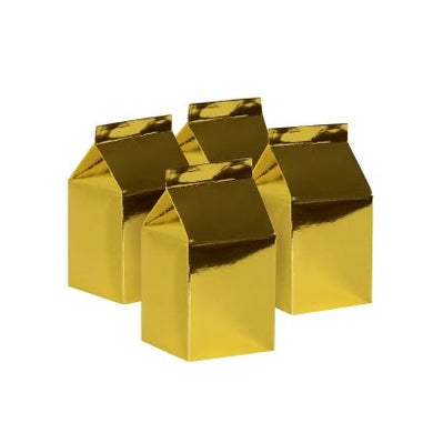 Metallic Gold Milk Box 10pk