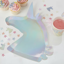 Load image into Gallery viewer, Unicorn Shaped Plate Pk8