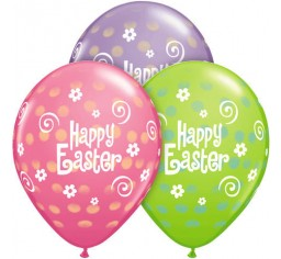 Happy Easter Latex Balloons PK 6