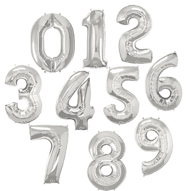 Silver Foil Number Balloons