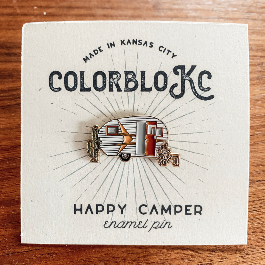 Happy Camper - Enamel Pin