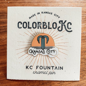 Kansas City Fountain - Enamel Pin