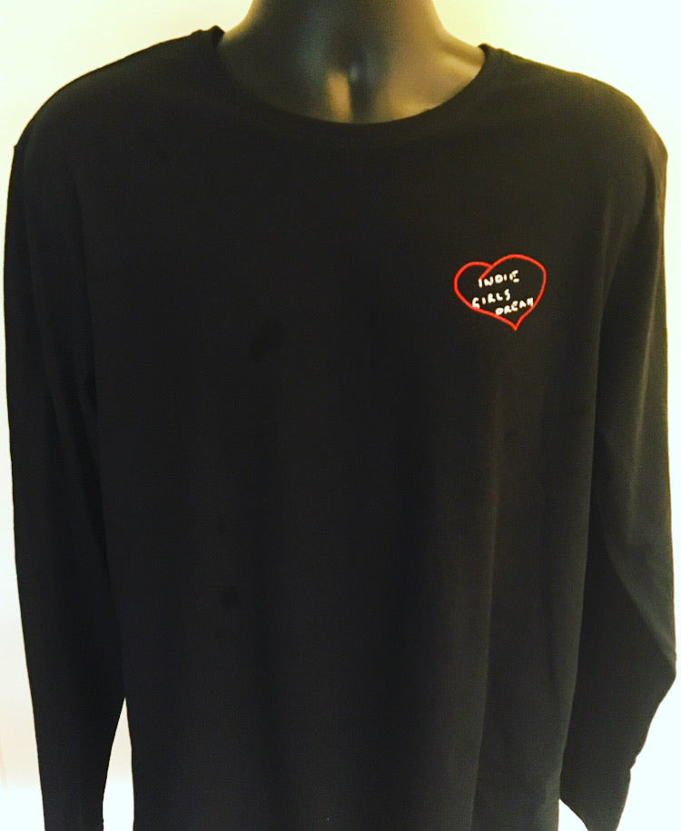 Signature black long sleeved logo t-shirt