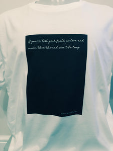 Unisex Organic Cotton Lyric T-shirt 3