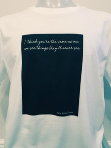 Unisex Organic Cotton Lyric T-shirt 2