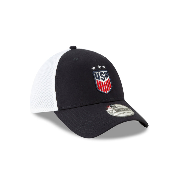 U.S. SOCCER NEW ERA USA 39THIRTY SEMESTER 3-STAR CAP - NAVY/WHITE