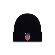 U.S. SOCCER NEW ERA TOQUE 3-STAR KNIT BEANIE - NAVY