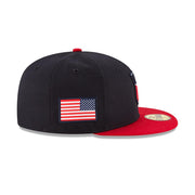 NEW ERA CREST USA 59FIFTY REDUX FITTED HAT - NAVY