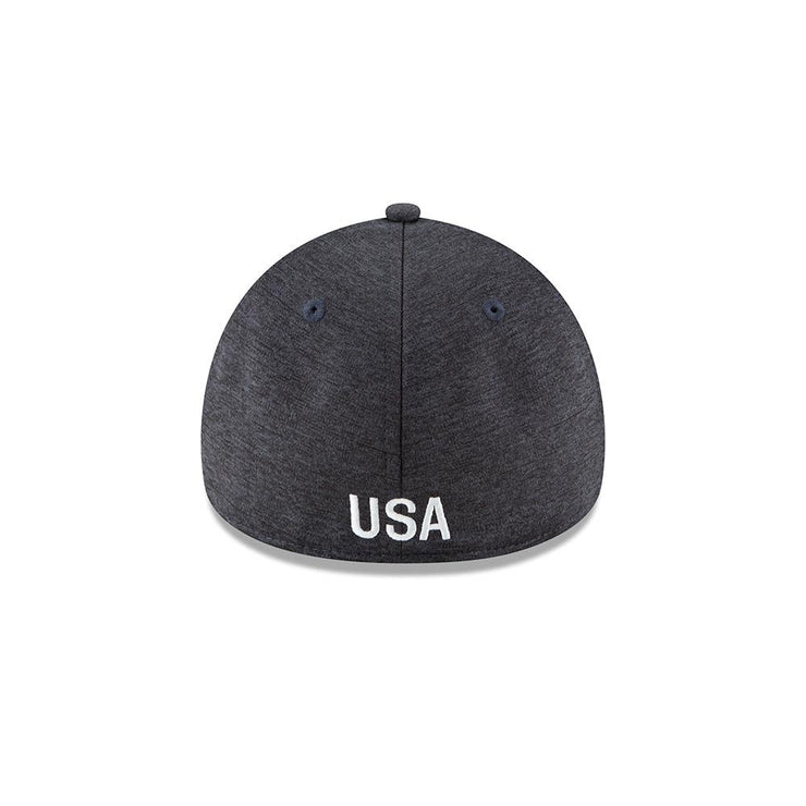 U.S. SOCCER NEW ERA 49FORTY BEVELED TECH FITTED CAP - NAVY
