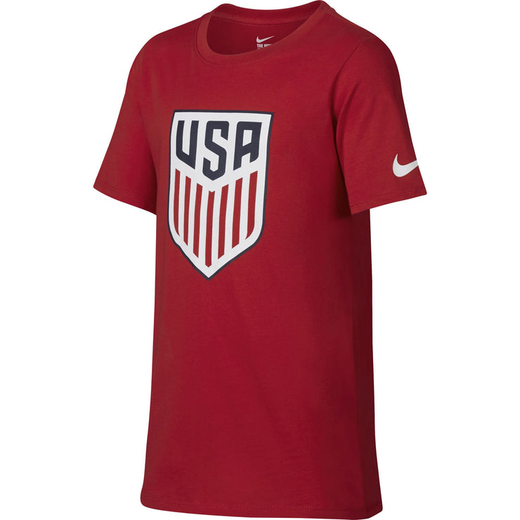 U.S. SOCCER NIKE YOUTH CREST TEE UNIVERSITY RED