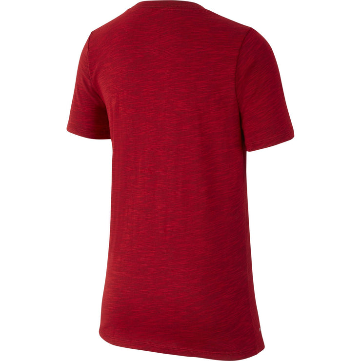 U.S. SOCCER NIKE YOUTH SWOOSH PRESEASON TEE UNIVERSITY RED