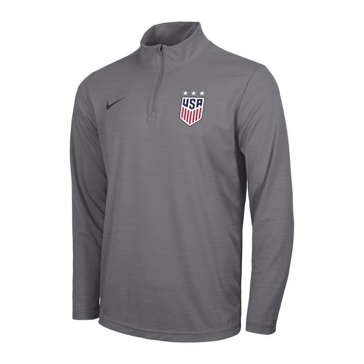 MEN'S NIKE USWNT 3-STAR INTENSITY 1/4 ZIP TOP - GRAY