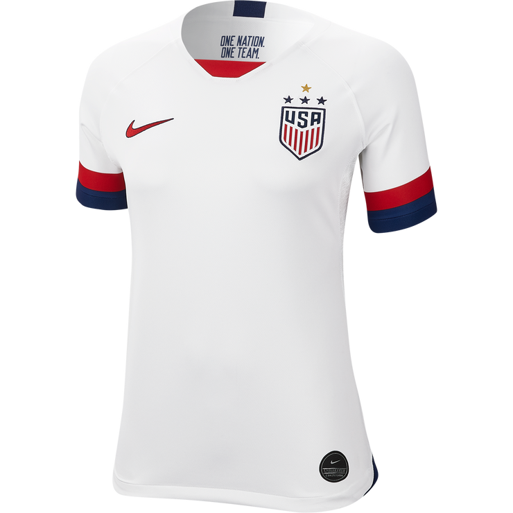 WOMEN'S NIKE USA WNT BREATHE 4-STAR STADIUM HOME JERSEY - WHITE