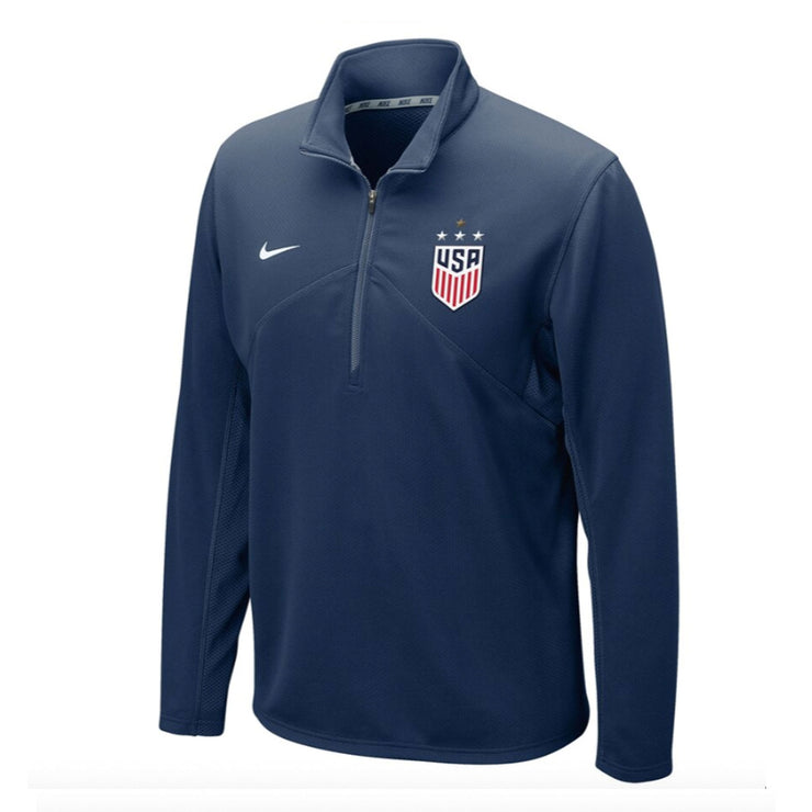 MEN'S NIKE WNT 4-STAR DF TRAINING 1/4 ZIP - NAVY