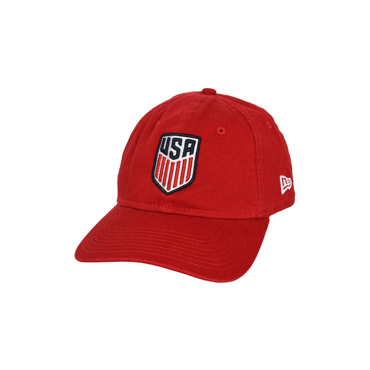 U.S. SOCCER NEW ERA USA 9TWENTY CREST HAT - RED