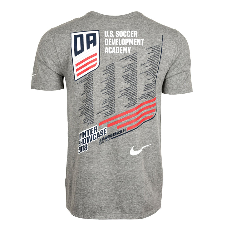 U.S. SOCCER DEVELOPMENT ACADEMY WINTER SHOWCASE SS TEE - GRAY