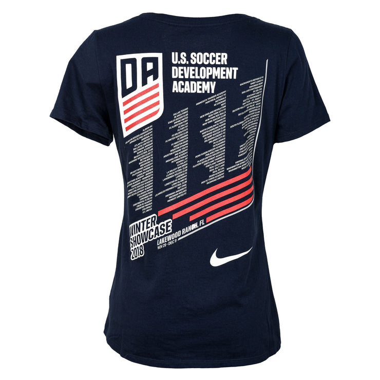 U.S. SOCCER WOMENS DEVELOPMENT ACADEMY WINTER SHOWCASE SS TEE - NAVY