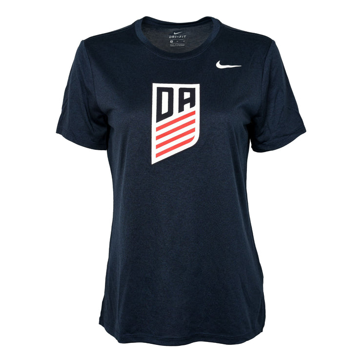 U.S. SOCCER WOMEN'S NIKE DEVELOPMENT ACADEMY LOGO LEGEND SS DRI-FIT TEE - NAVY