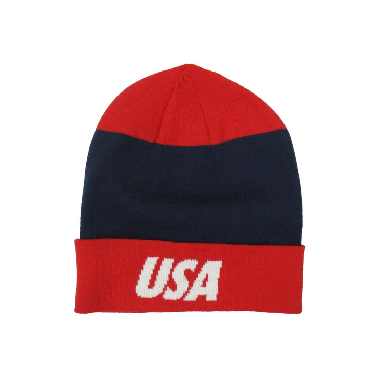 U.S. SOCCER Nike Dri Knit Navy- Red-White Beanie