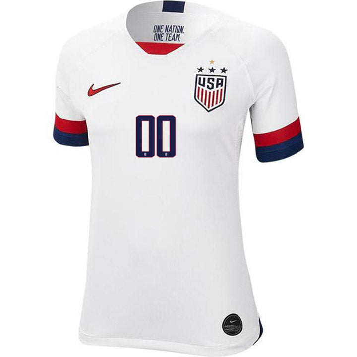 PERSONALIZED WOMEN'S NIKE WNT USA BREATHE STADIUM WHITE HOME JERSEY