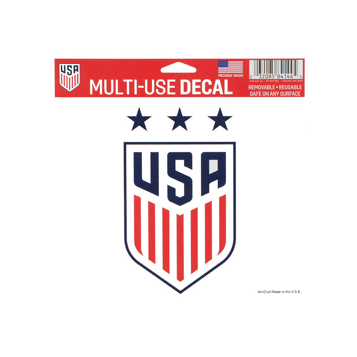 "US WNT 3-STAR 5"" X 5"" MULTI-USE DECAL"