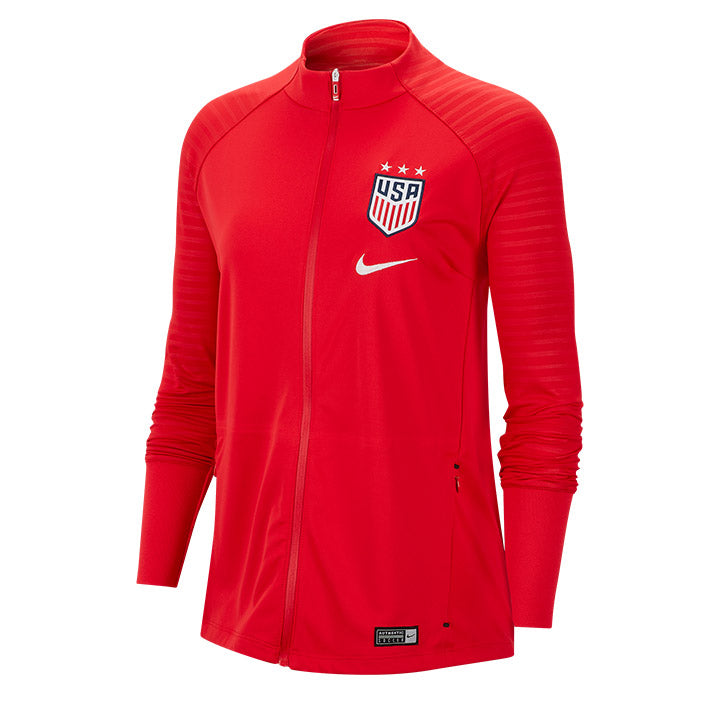 WOMENS USA NIKE 3-STAR SQUAD ANTHEM JACKET - RED